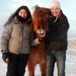 Bente, Selma og Per - frá heimsókn þeirra til Íslands fyrr í desember.